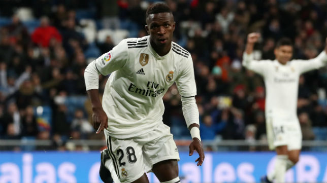 Vinicius celebra el gol anotado en el Real Madrid-Leganés de la Copa del Rey (Foto: Reuters)