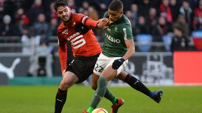 Clement Grenier, en un partido del Stade Rennais (AFP)