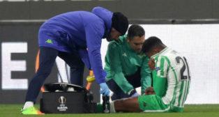 Junior, lesionado en el Stade Rennais-Betis (EFE)
