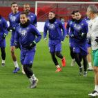 William Carvalho, Lo Celso, Jesé, Feddal, Sidnei, Lainez, Sergio León y Marcos Álvarez (EFE)