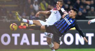Lautaro Martínez, en un partido del Inter de Milán (Reuters)