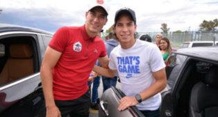 Mauro Lainez (i) y Diego Lainez