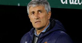 Quique Setién, antes del comienzo del Betis - Valencia de la Copa del Rey (Foto: Reuters)