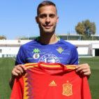 Canales, con la camiseta de la selección española (Foto: Real Betis)