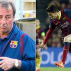 A la izquierda, Quique Costas en su etapa de técnico. A la derecha, Bartra en un Barcelona-Atlético (Fotos: ABC / Reuters)