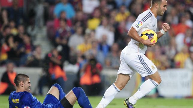 Jesé celebra el gol anotado en el Barcelona-Real Madrid de la temporada 13-14 (Foto: AFP)