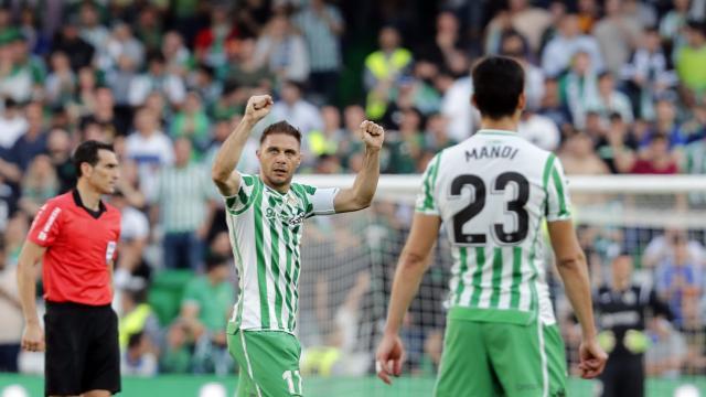 Joaquín (posible titular en el Betis-Getafe) celebra su gol ante el Getafe (LaLiga)
