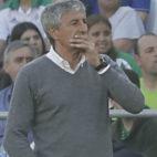 Setién, durante el Betis-Getafe (Foto: Raúl Doblado)