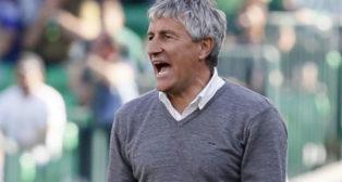 Setién, durante el Betis-Getafe (Foto: EFE)