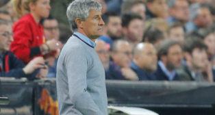 Setién, durante el Valencia-Betis de semifinales de la Copa del Rey (Foto: Reuters)