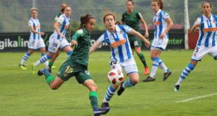 Lance del Real Sociedad - Real Betis Féminas