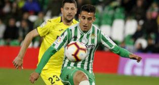 Tello, en un lance del Betis-Villarreal (Foto: Manuel Gómez)