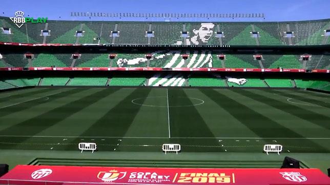 El estadio Benito Villamarín, listo para la final de Copa (Foto: Real Betis)