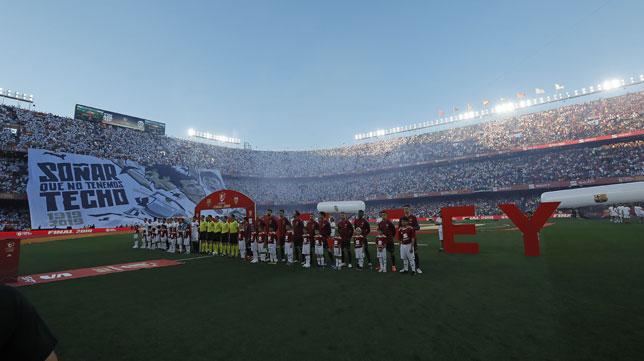 El Villamarín, antes del inicio de la final de la Copa del Rey (Foto: Raúl Doblado).