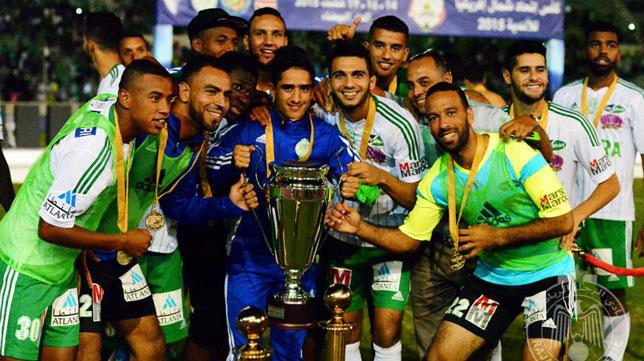Los jugadores del Raja Casablanca, en una imagen de archivo