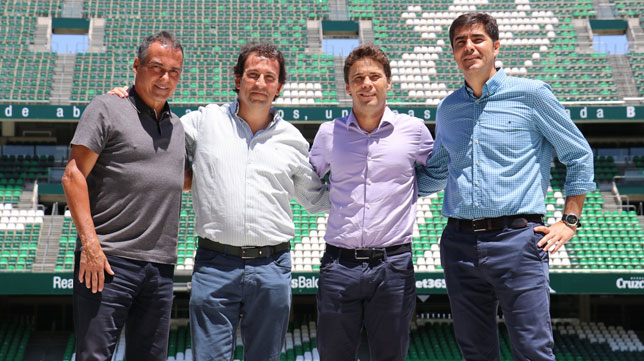 Primera imagen de Rubi como entrenador del Betis (Foto: Real Betis)