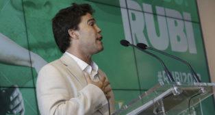 Rubi, en su presentación como entrenador del Betis (Foto: Juan Flores)