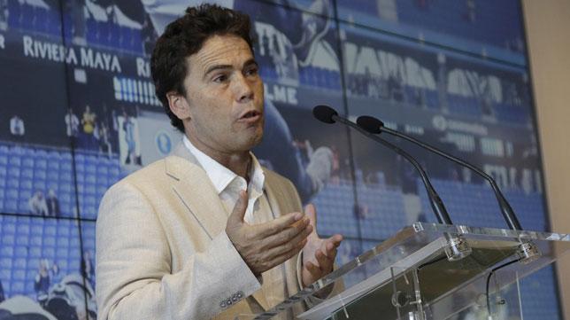Rubi, durante la rueda de prensa de su presentación (Juan Flores)