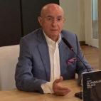 Serra, durante su rueda de prensa de despedida del Betis en el Hotel Al-Andalus