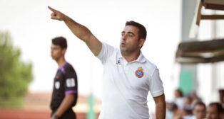 David Gallego, en el amistoso Peralada-Espanyol (foto: EFE)