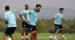 Borja Iglesias, durante un entrenamiento de pretemporada con el Espanyol (Foto: RCD Espanyol)