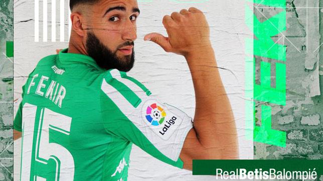 Fekir, con el dorsal 15 (Foto: Real Betis):