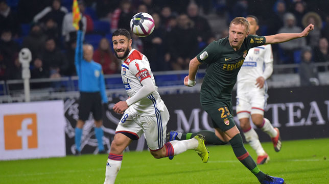 Nabil Fekir, durante un partido con el Olympique Lyonnais