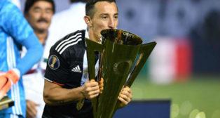 Guardado, exultante, on la Copa de Oro (AFP)