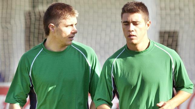 Joaquín y Maldonado, en Montecastillo, en 2003 (Foto: Raúl Doblado)