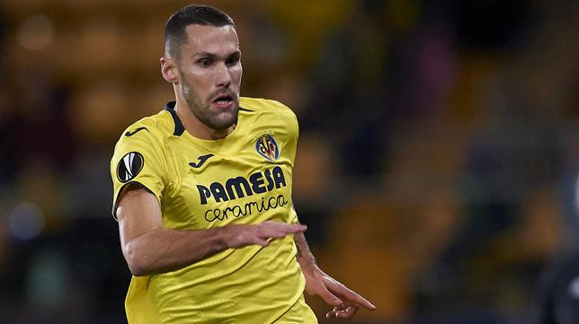 Alfonso Pedraza, en un partido de la Europa League con el Villarreal
