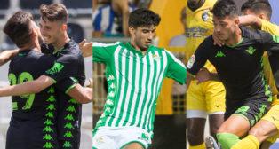 Raúl, Calderón e Ismael, en los partidos del Betis en Portimao (Fotos: Alberto Díaz/ABC)