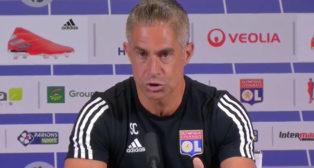 Sylvinho, en rueda de prensa (Imagen: Olympique Lyonnais)
