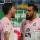 Didac y Borja Iglesias celebran el tanto del primero en el Lucerna-Espanyol (Foto: Espanyol).