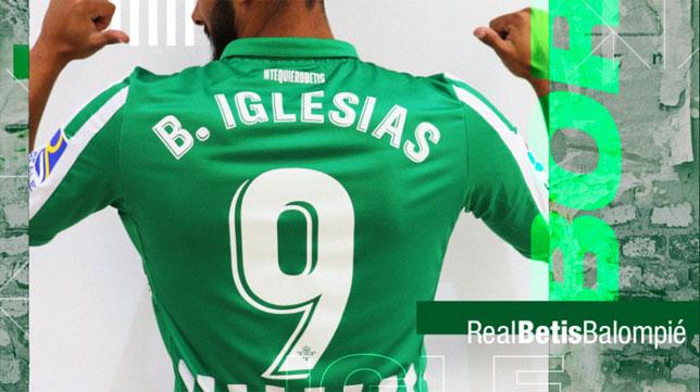 Borja Iglesias será el 9 del Betis