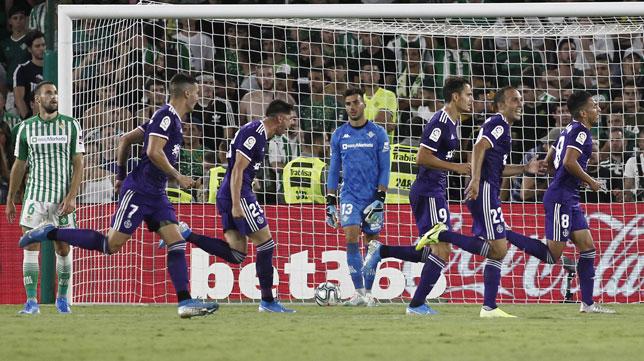 Dani Martín se lamenta del segundo gol encajado ante el Valladolid (Foto: Manuel Gómez/ABC)