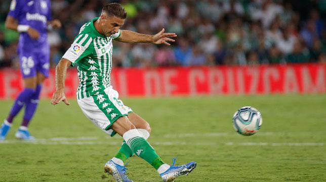 Joaquín, durante el Betis-Leganés (Foto: RBB)