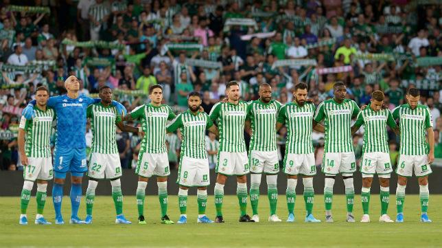 Alineación titular del Betis ante el Valladolid (AFP)