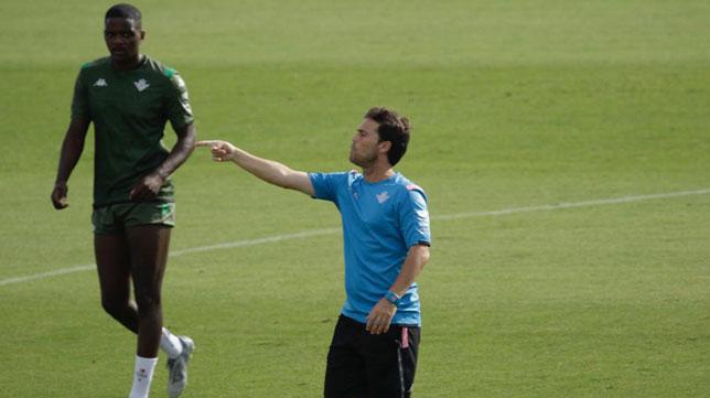 Betis: Rubi, en un entrenamiento (Foto: Juan Flores)