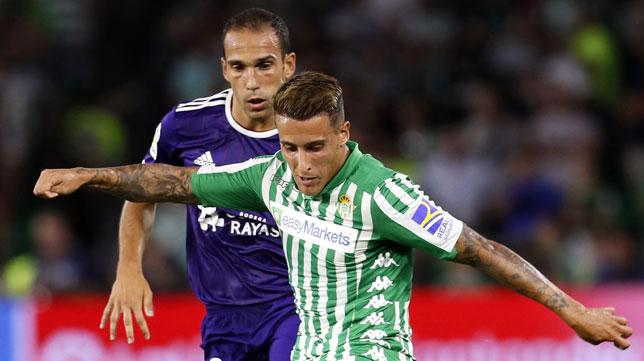 Tello, en el partido del Betis contra el Valladolid