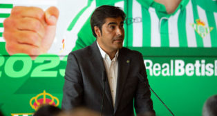 El presidente del Betis, Ángel Haro (foto: Vanessa Gómez)