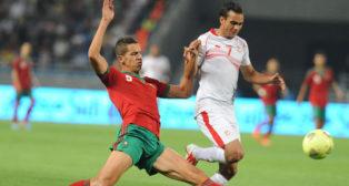Feddal, en un partido ante Túnez de la Copa de África en 2013 (foto: AFP)