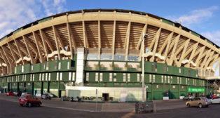 Aspecto exterior de la tribuna de Preferencia del estadio Benito Villamarín (Foto: Raúl Doblado)