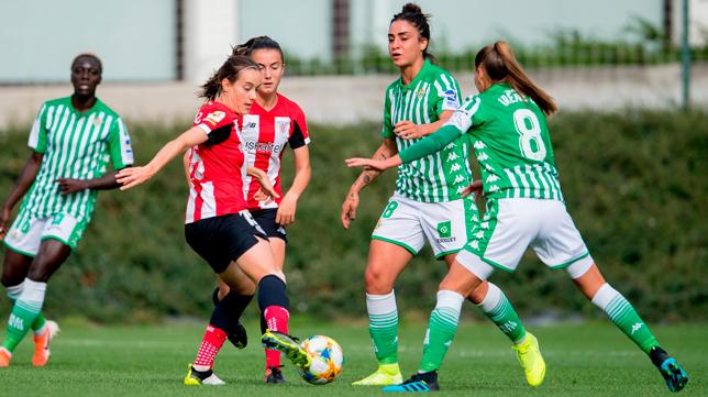 Piemonte e Irene encaran a dos jugadoras del Athletic (Foto: Athletic Club)