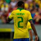 Emerson, en un partido con Brasil