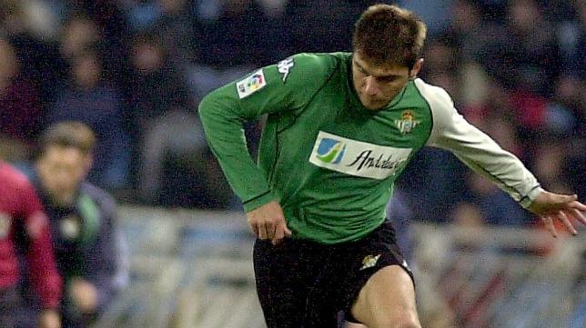 Joaquín, en el Real Sociedad - Real Betis del 6 de diciembre de 2003