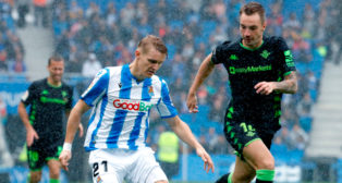 Loren y Odegaard, durante el Real Sociedad - Real Betis (Foto: EFE)