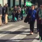 Aficionados del Betis antes del duelo ante el Valencia