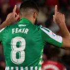 Fekir celebra el 0-2 del Real Betis ante el Mallorca (Foto: EFE).