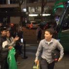 Rubi, a la llegada del Real Betis al hotel de concentración en Madrid.