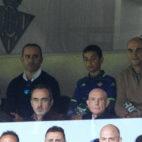 Serra Ferrer presenció en el palco privado de Caro Ledesma el Betis-Valencia (Foto: Juan José Úbeda)